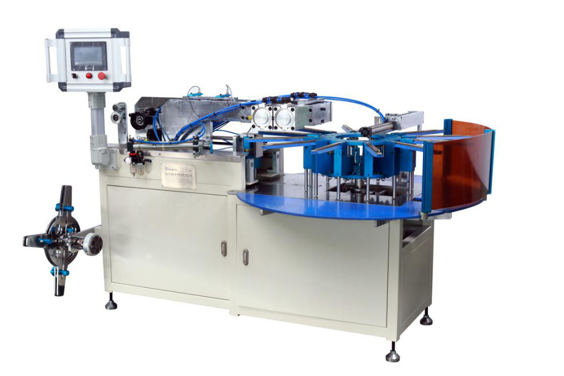 Turntable Clipping Automotive Filter Manufacturing Machines For Spin On Oil Fuel Filter Strip Clip