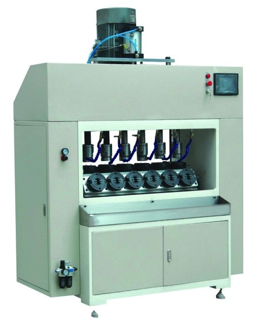 24 Pcs / Min Oil Filter Manufacturing Machine , Six Station Automatic Tapping Machine